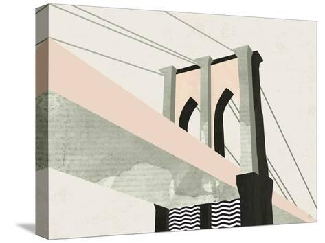 Brooklyn Bridge-Michelle Collins-Stretched Canvas Print