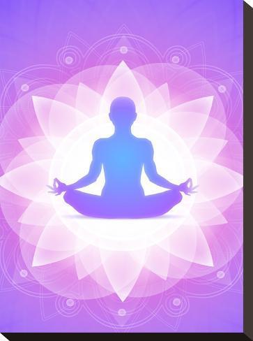 Purple Yoga Faith Meditation-Wonderful Dream-Stretched Canvas Print