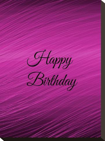 Purple Happy Birthday-Wonderful Dream-Stretched Canvas Print