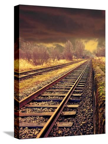 Railway Travel Nature-Wonderful Dream-Stretched Canvas Print