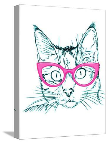 Hipster Cat-Wonderful Dream-Stretched Canvas Print