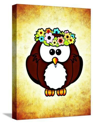 Cool And Funny Owl Bird-Wonderful Dream-Stretched Canvas Print