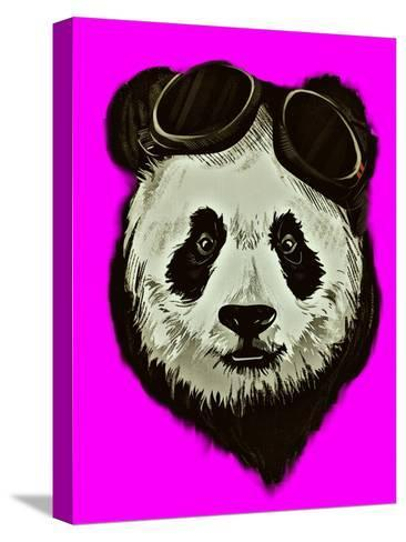 Hipster Panda Bear Pink Style-Wonderful Dream-Stretched Canvas Print