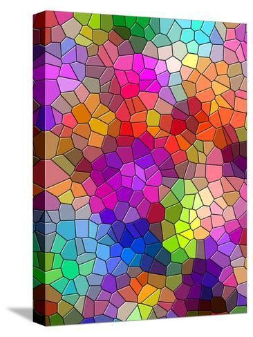 Colorful Abstract Mosaic Style-Wonderful Dream-Stretched Canvas Print