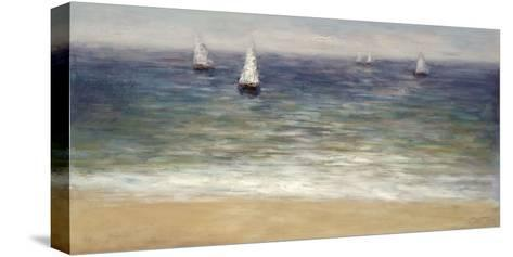 White Sails-John Young-Stretched Canvas Print
