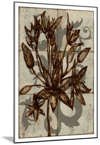 Rustic Allium-Jennifer Goldberger-Mounted Premium Giclee Print