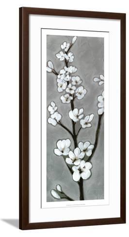 White Blossoms I-Jennifer Goldberger-Framed Art Print