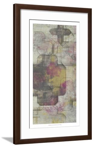 Raspberry Quatrefoil I-Jennifer Goldberger-Framed Art Print