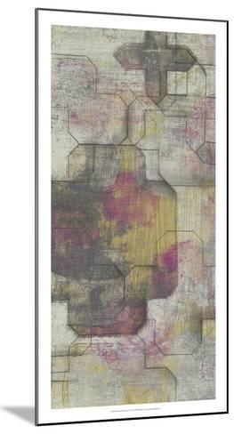 Raspberry Quatrefoil I-Jennifer Goldberger-Mounted Premium Giclee Print
