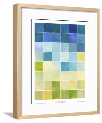 Pixilated Landscape I-Megan Meagher-Framed Art Print