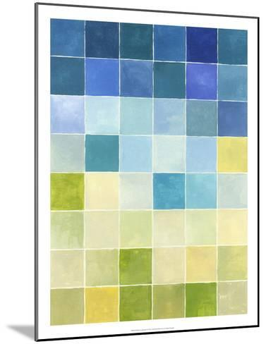 Pixilated Landscape I-Megan Meagher-Mounted Premium Giclee Print
