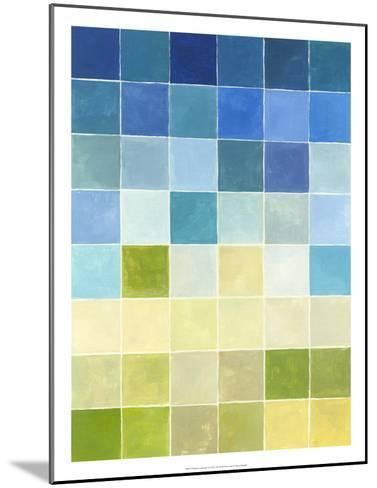 Pixilated Landscape II-Megan Meagher-Mounted Premium Giclee Print
