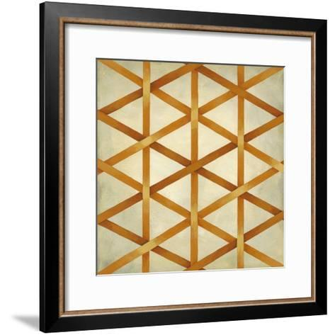 Woven Symmetry IV-Chariklia Zarris-Framed Art Print