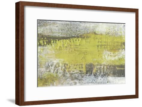 Yellow and Grey Serenity I-Jennifer Goldberger-Framed Art Print