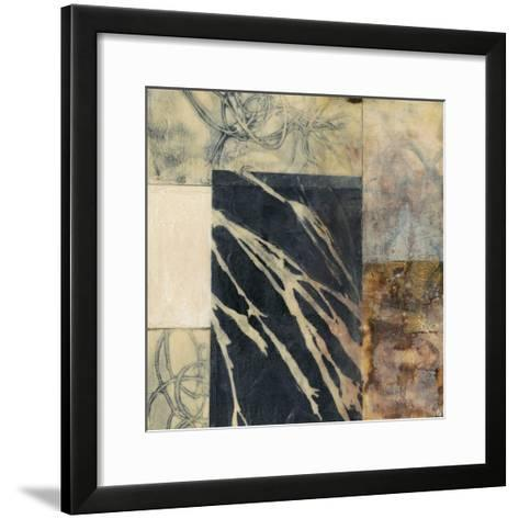 Indigo Layers II-Jennifer Goldberger-Framed Art Print