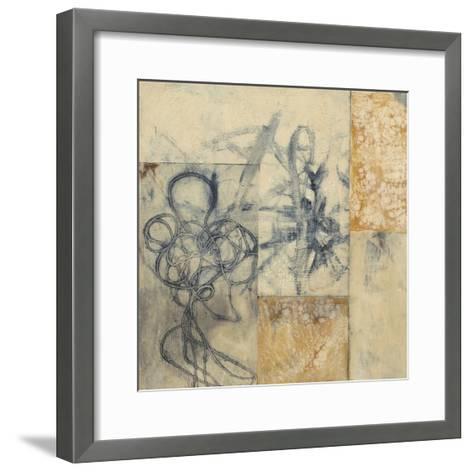 Indigo Strings I-Jennifer Goldberger-Framed Art Print