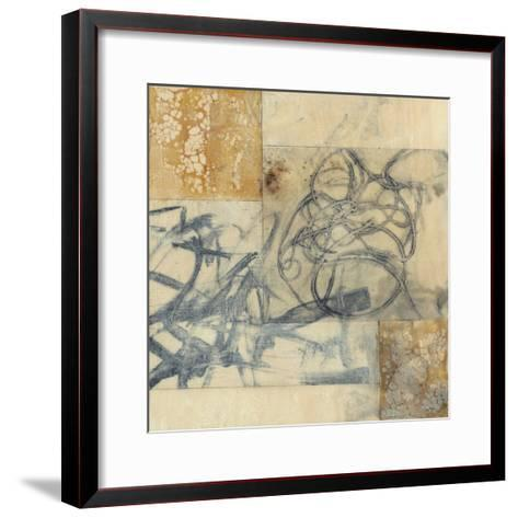 Indigo Strings II-Jennifer Goldberger-Framed Art Print