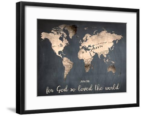 For God So Loved The World-Sheldon Lewis-Framed Art Print