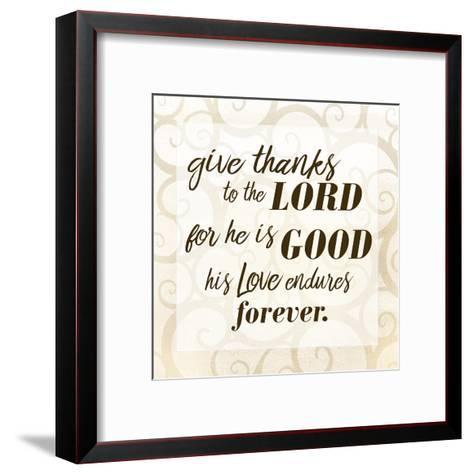 Give Thanks-Kimberly Allen-Framed Art Print