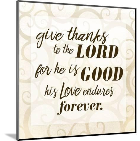 Give Thanks-Kimberly Allen-Mounted Art Print