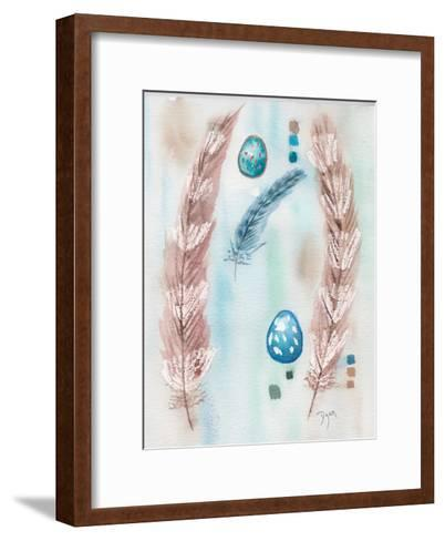 Feather and Egg Study-Beverly Dyer-Framed Art Print