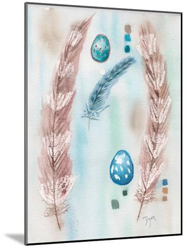 Feather and Egg Study-Beverly Dyer-Mounted Art Print