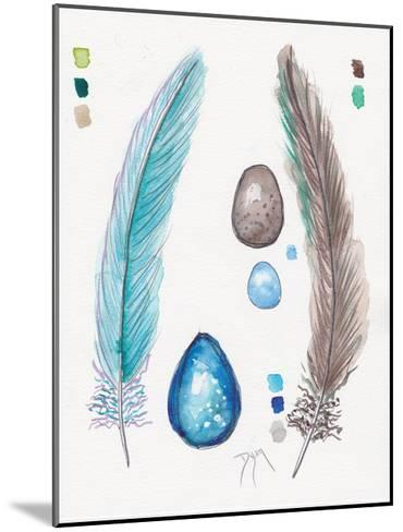 Feather and Egg Study 2-Beverly Dyer-Mounted Art Print