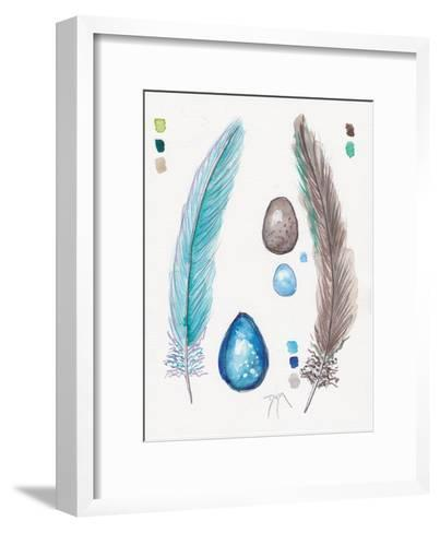 Feather and Egg Study 2-Beverly Dyer-Framed Art Print