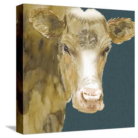 Hogans Brown Cow-Beverly Dyer-Stretched Canvas Print