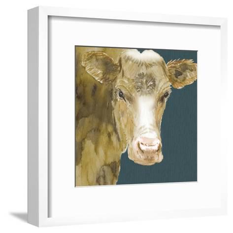 Hogans Brown Cow-Beverly Dyer-Framed Art Print