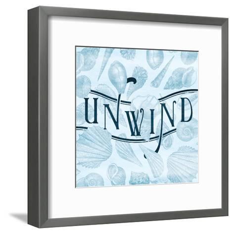 Unwind Shells-Jace Grey-Framed Art Print