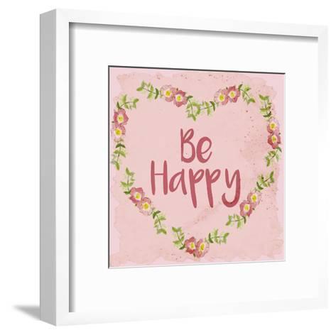 Be Happy-Kimberly Allen-Framed Art Print