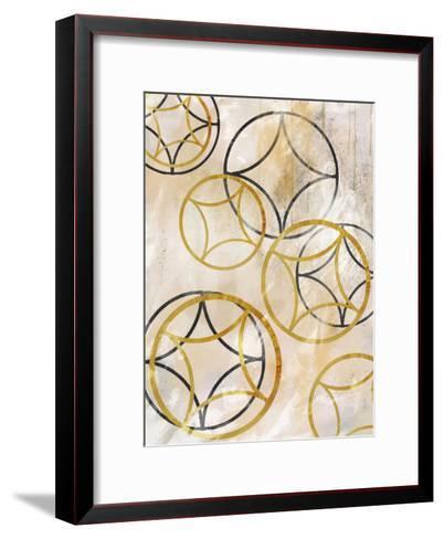 Brown Sparkling Spheres 1-Cynthia Alvarez-Framed Art Print