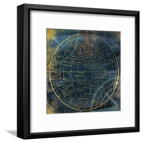 Golden Blue World Side A-Jace Grey-Framed Art Print