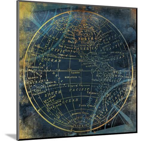 Golden Blue World Side A-Jace Grey-Mounted Art Print