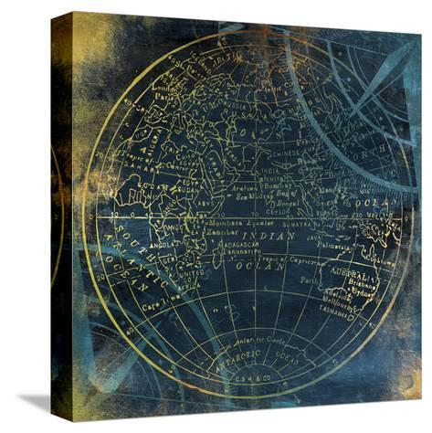 Golden Blue World Side B-Jace Grey-Stretched Canvas Print