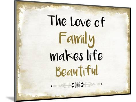 The Love of Family-Kimberly Allen-Mounted Art Print