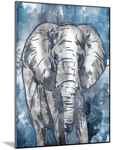Grey Blue Elephant-OnRei-Mounted Art Print