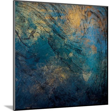 Golden Blue Marble Mate-Jace Grey-Mounted Art Print
