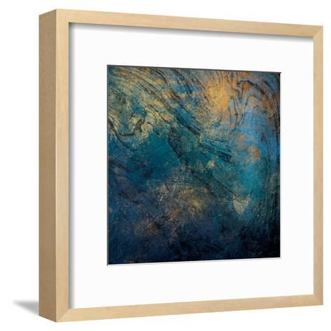 Golden Blue Marble Mate-Jace Grey-Framed Art Print