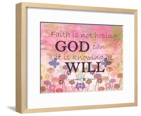 Faith is-Kimberly Allen-Framed Art Print