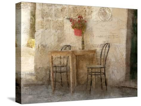 Sidewalk Cafe-Kimberly Allen-Stretched Canvas Print