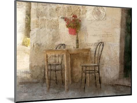 Sidewalk Cafe-Kimberly Allen-Mounted Art Print