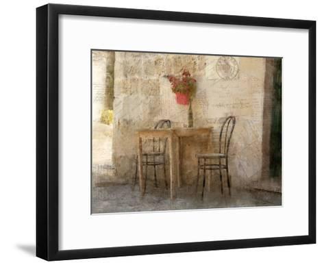 Sidewalk Cafe-Kimberly Allen-Framed Art Print