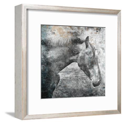 Horse Kiss-OnRei-Framed Art Print