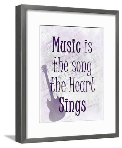 Music is the Song-Kimberly Allen-Framed Art Print