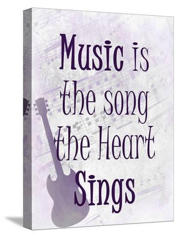 Music is the Song-Kimberly Allen-Stretched Canvas Print