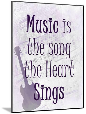 Music is the Song-Kimberly Allen-Mounted Art Print