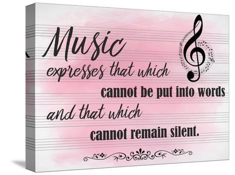 Music Expresses-Kimberly Allen-Stretched Canvas Print