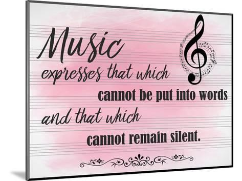 Music Expresses-Kimberly Allen-Mounted Art Print